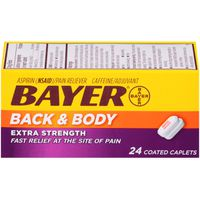 Bayer Back & Body Extra Strength 500mg Coated Caplets Pain Reliever