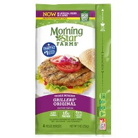 Morningstar Farms Grillers Original Frozen Veggie Burger - 4ct