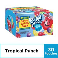 Kool-Aid Jammers Tropical Punch Flavored Drink, 30 ct - 6 fl oz Pouches