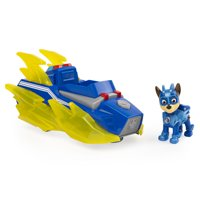 PAW Patrol, Mighty Pups Charged up Chase'€™s Deluxe Vehicle with Lights and Sounds