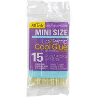 AdTech Cool Glue Mini 4' Ultra Low-Temp Glue Sticks, 15 Count