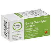 Signature Care Laxative, Gentle Overnight, 5 mg, Tablets