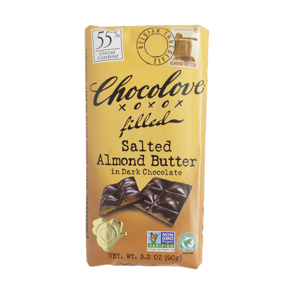Chocolove Salted Almond Butter In Dark Chocolate, 3.2 oz