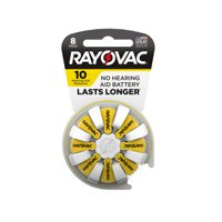 Rayovac Size 10 Hearing Aid Batteries, 8-Pack 10-8