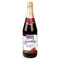 Welch's Sparkling Red Grape Juice - 25.4 fl oz Glass Bottles