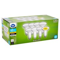 Great Value LED BR30 Reflector 9 Watts Soft White Medium Base Bulbs, 8 count