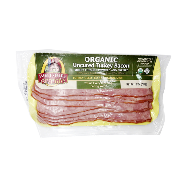 Organic Uncured Turkey Bacon, 8 oz