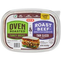 H-E-B Select Ingredients Oven Roasted Turkey Breast With Roast Beef