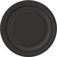 Paper Plates, 7 in, Black, 24ct