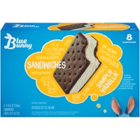 Blue Bunny Simply Vanilla Ice Cream Sandwiches, 8pk
