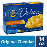 Kraft Deluxe Original Cheddar Mac and Cheese Dinner, 14 oz Box