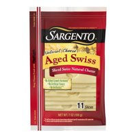 Sargento®Sliced Aged Swiss Cheese, 11 slices, 7 oz.