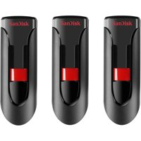 SanDisk Cruzer Glide 16GB USB 2.0 Flash Drive, 3-Pack
