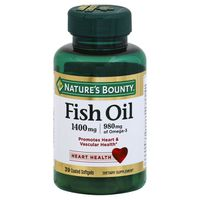 Nature's Bounty Fish Oil 1400mg Coated Softgels - 39 CT