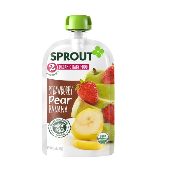 Sprout Organic Baby Food Strawberry Pear Banana