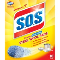S.O.S Steel Wool Soap Pads, 10 Count