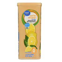 Great Value Sugar-Free Iced Tea with Lemon Drink Mix, 1.4 Oz., 6 Count