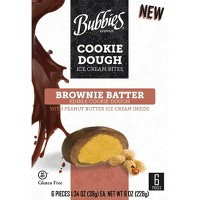 Bubbies Hawaii Peanut Butter Brownie Batter Cookie Dough Ice Cream Bites - 8oz