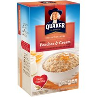 Quaker Instant Oatmeal, Peaches & Cream, 10 Packets