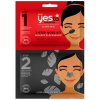 Yes To Tomatoes Charcoal Nose Mask 2-Step Charcoal Nose Kit for Blackheads 0.25 Oz