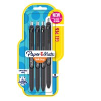Paper Mate InkJoy Gel Pens Medium Point Black 4 Pack