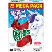 Fruit Snacks Fruit Roll-Ups Strawberry Sensation 30 Rolls 0.5 oz Each