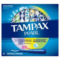 Tampax Tampons Light/Regular/Super Absorbency, Triple Pack, Unscented