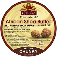 Okay Pure Naturals African Shea Butter for Skin & Hair - Yellow Chunky - 10oz