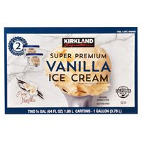 Kirkland Signature Super Premium Vanilla Ice Cream, 2 x 64 fl oz