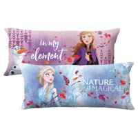 "Disney's Frozen 2 Kids Body Pillow, Reversible, 20"" x 48"", Nature is Magical"