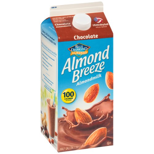 Almond Breeze Chocolate Almond Milk, Half Gallon