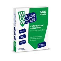 "Kroger 8.5"" x 11"" White Office Works Multi Purpose Copy Paper"