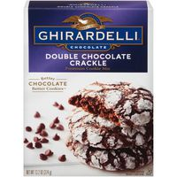 Ghirardelli Chocolate Double Chocolate Crackle Premium Cookie Mix