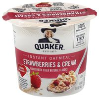Quaker Instant Oatmeal Strawberries & Cream Flavor Cup