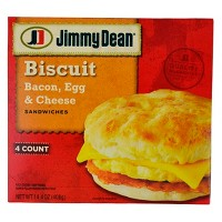Jimmy Dean Bacon Egg & Cheese Frozen Biscuit Sandwiches - 4ct