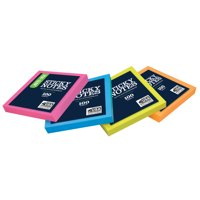 Pen+Gear Self Stick Notes, 3 in. x 3 in., 1 Pad, Assorted Neon Collection - Color May Vary