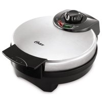 "Oster 8"" Nonstick Belgian Waffle Maker with Temperature Control, Silver"