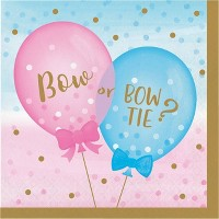 48ct Gender Reveal Balloon Disposable Napkins