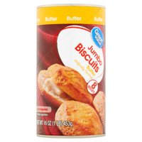 Great Value Butter Flavor Jumbo Biscuits, 8 count, 16 oz