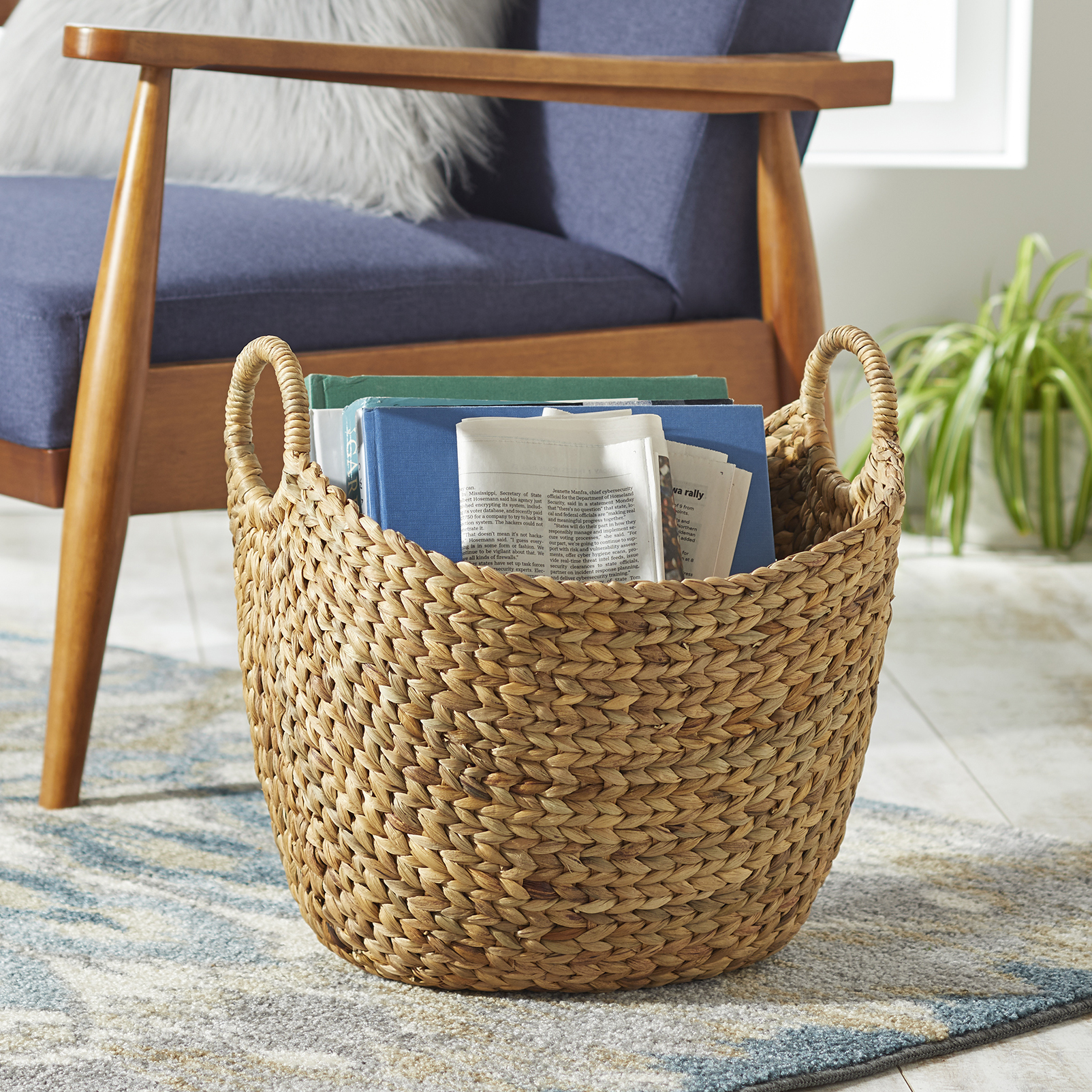 Better Homes & Gardens Large Natural Water Hyacinth Boat Basket