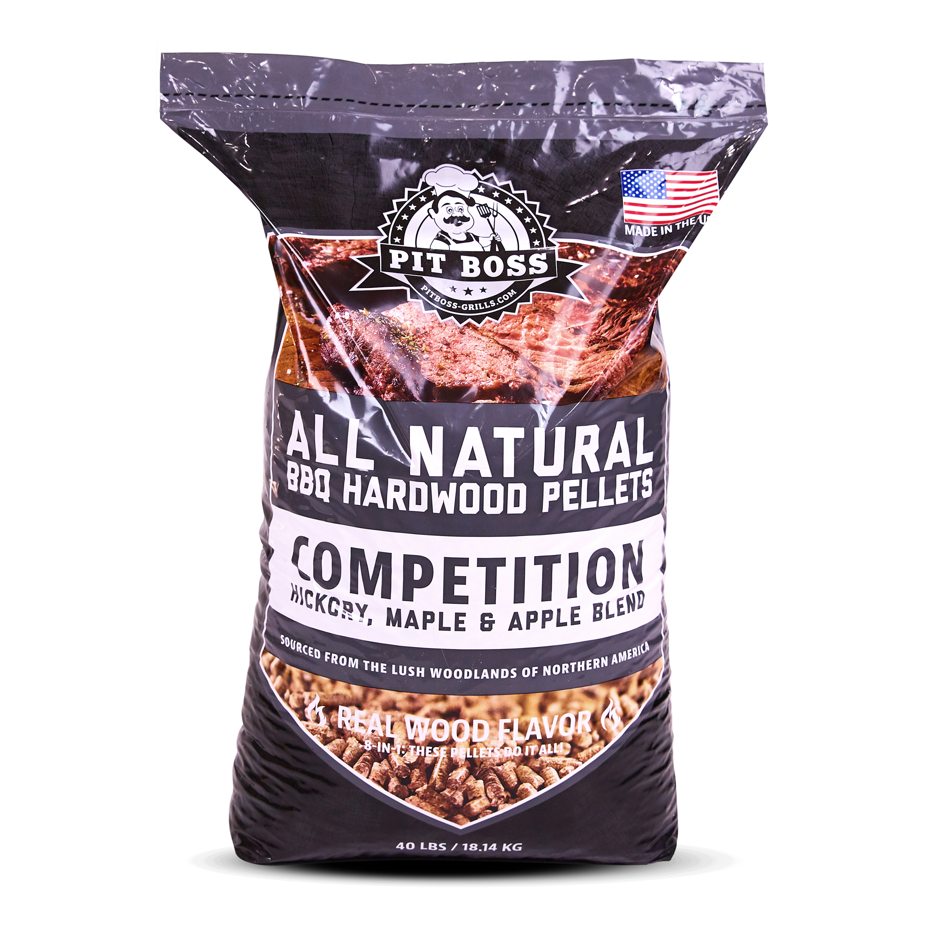 (2 pack) Pit Boss Competition Blend BBQ Pellets - 40 lb Resealable Bag