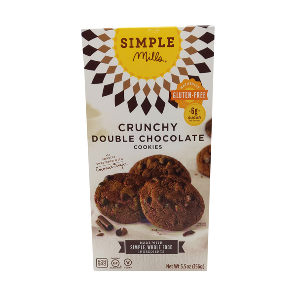 Simple mills Double Chocolate Chip Crunchy Cookies, 5.5 oz