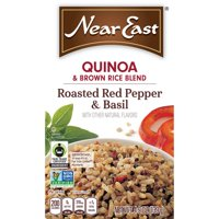 Near East Quinoa & Brown Rice, Roasted Red Pepper & Basil, 4.9 oz