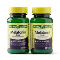 Spring Valley Melatonin Sleep Support Tablets, 5 mg, 120 Count, 2 Pack
