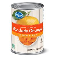 Kroger Mandarin Oranges Peeled Segments In Light Syrup