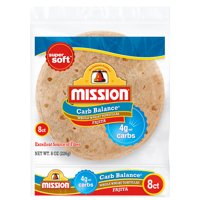 Mission Carb Balance Fajita Whole Wheat Tortillas, 8 Count