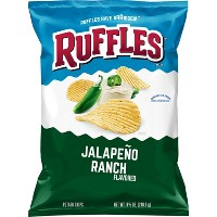 Ruffles Jalapeno Ranch Flavored Potato Chips - 8.5oz