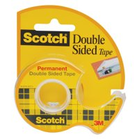 3M #238 Scotch Removable Double Stick Tape With Dispenser, 3/4' x 200'