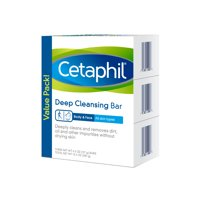 Cetaphil Deep Cleansing Bar Pack, 13.5 Oz., 3 Count