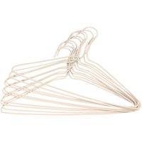 Mainstays White Wire Hangers, 10 Count